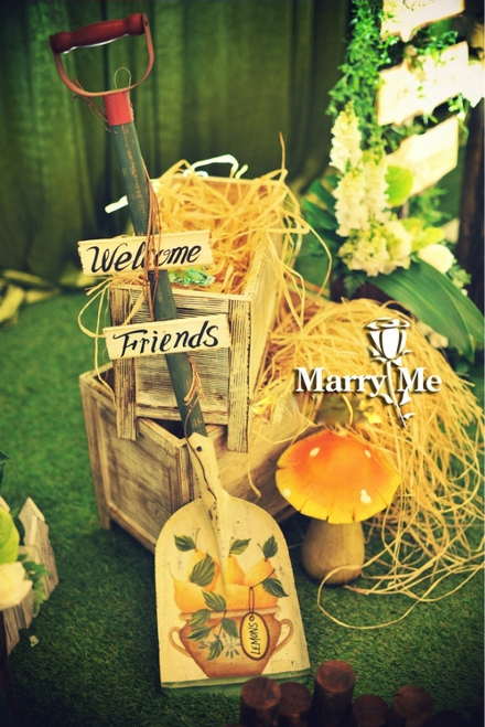 森系风主题婚礼 走进唯美的童话森林